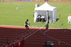 Zieleinlauf 400m M60 Karl Dorschner vor Helmut Meier