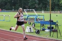 Zieleinlauf 400m M55 3. Platz für Joachim Hickisch