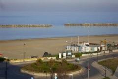 Blick vom Hotel zum Strand (So auch auf der Webcam zu sehen)