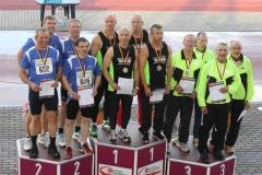 Siegerehrung 4x100m Staffel M50