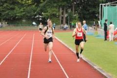 Zieleinlauf 1500m M45 Knapp geschlagen auf dem 2. Platz Andreas Müller