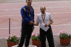 Siegerehrung Dreisprung M55 Sieger Jochen Meyer und Joachim Hickisch