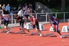 100m A-Finale Männer