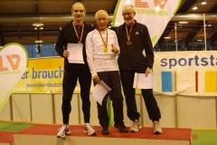 Siegerehrung M60 200m v.l.n.r.: Rudolf König, Reinhard Michelchen und Helmut Meier