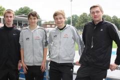 Teilnehmer der Norddeutschen Meisterschaften Steffen Meinke, Nils-Henrik Meyer, Thore Michaelis, Niels Michaelis (v.l.)