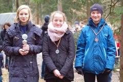 """v.li.: Sophia Rathjen siegte in der """"Oste-Cup""""-Wertung vor ihrer Vereinskameradin Thyra Pape und Noria Helene Pilarski (Tria Team Buxtehude"""