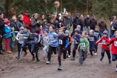 Start der männlichen Jugend U10/M08 und U10/M09 über die 700m-Distanz.