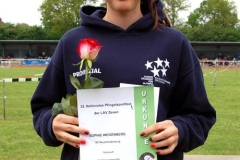 Sophie Weißenberg (SC Neubrandenburg) gewann den Speerwurf-Wettbewerb der weiblichen Jugend U18 mit 40,25m. Da das Gewicht der Wurfgeräte geändert worden war, bedeutete das zugleich einen neuen Pfingstsportfestrekord.