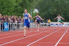 Silvio Schirrmeister gewann seinen Lauf über die 400m-Hürden der Männer in der diesjährigen deutschen Bestzeit von 50,05 sec.