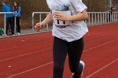 Katharina Beneke gewann souverän den Lauf über 800m in der Altersgruppe der Kinder W09.