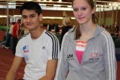 Sarina Holsten und Kevin Lembach erzielten in der Berliner Rudolf-Habig- Halle neue Bestzeiten