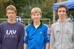 Janik Dohrmann, Joost Michaelis und Alexander Herzog (v.li.).