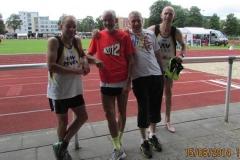 Die Zevener Teilnehmer am 2. Wettkampftag: v.l.n.r.: Bernd Kümmel, Helmut Meier, Czeslaw Pradzynski und Rainer Liburg