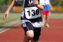 Die eitmessungen der Sprints, wie etwa hier der Lauf von Ian Jürs (LAV Zeven) über die 50m, wurden elektronisch gemessen.