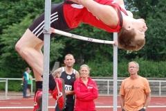 Hochsprung der Männer gewann an beiden Veranstaltungstagen Alexander Klintworth vom TSV Wiepenkathen. Am Sonnabend übersprang er 1,99m und am Sonntag 1,95m.