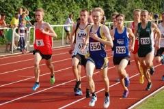 Steffen Meinke (Nr. 672) von der LAV Zeven kam in der Gesamtwertung der 800m der MJ U20 mit 2:03,80 min. auf den siebten Rang
