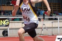 Alexander Herzog von der LAV Zeven startet am Sonntag über die 200m der MJ U18 und kam mit 24,03 sec. auf den 6. Platz im A-Finale.