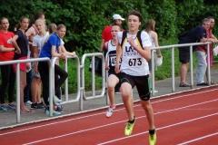 Nils-Henrik Meyer (Nr. 673) von der LAV Zeven kam in der Rangfolge der Zeitläufe der MJ U18 über 400m mit 52,77 sec. auf den fünften Platz.