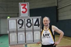 Mit 9,84m Platz 3 im Dreisprung M60 Joachim Hickisch