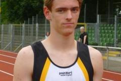 Janik Dohrmann bei den Norddeutsche Meisterschaften der Leichtathleten in Göttingen