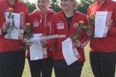 Siegerehrung 4x100m Staffeln SC Potsdam