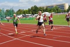 Endlauf100m M55 Überlegener Sieger Czeslaw Pradzynski