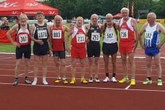 Die Endlaufteilnehmer 100m M65