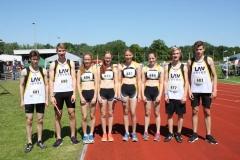 Die Sprintstaffeln der LAV Zeven nach einer erfolgreichen Meisterschaft in Wilhelmshaven