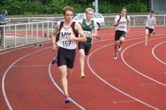 400m-Lauf mit Janik Dohrmann (Nr. 157) und Nils-Henrik Meyer (Nr. 158).