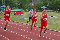 Im 200 m - Finale der MJ U18 siegte Maximilian March (Nr. 683, Team Voreifel) in 22,95 sec.