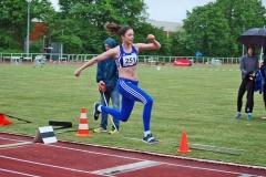 Sophie Weißenberg im Dreisprung Wettbewerb der WJ U20.
