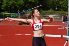 Im Speerwurf der weiblichen Jugend U18 setzte sich Florentine Gilde (VfL Eintracht Hannover) mit 40,08 m durch und gewann den Wettkampf.
