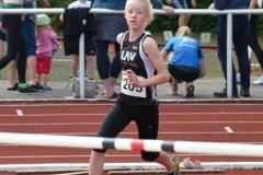 Marietta Müller nahm am Hochsprung der Jugend W13 teil und belegte mit 1,41 m den dritten Platz.