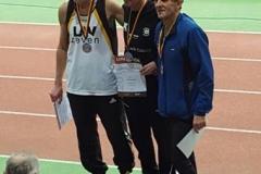 Siegerehrung 400m M65 v.l.n.r.: Helmut Meier, Karl Dorschner und Kurt Herbicht