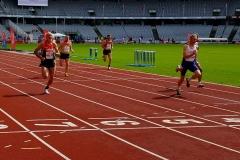 Vorlauf 100m, Platz 2, für das Finale morgen qualifiziert. Gleichzeitig auch für die 4×100m Staffel des DLV.