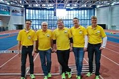 01: Sie möchten 2018 im Berliner Olympia-Stadion mit dabei sein, wenn dort mit der EM wieder ein großes internationales Sportereignis ausgerichtet wird: Rainer Dohrmann, Peter Kunze, Vollrath Schuster, Olaf Michaelis und Jens Dohrmann (v.li.)