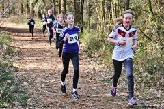 03: Paula Itzek (re.) von der LAV Zeven gewann den abschließenden Crosslauf um den Bahberg und auch den Oste-Cup. In der Cup-Wertung folgen ihre Vereinskameradinnen Lara Fitschen, Sophie Aeplinius und Edda Gert auf den Plätzen 3 bis 4.