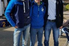 von links Marco Miltzlaff, Carsten Ahlfeld und Heino Fienen bei den Hamburger Betriebssportmeisterschaften