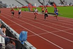 Finale 200m kurz vor dem Ziel
