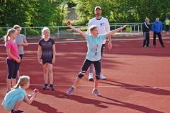 Ballwurf wurde an der von Ulf Neblung betreuten Station trainiert.