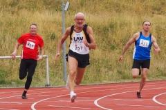 Finale 200m mit Helmut Meier. (Foto Melinda Mester)