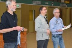 Theo Maxin, Helge Schwarz und Volker Klinkhardt (v.li.) bei der Siegerehrung.