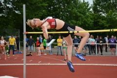 : Im Hochsprung der Frauen siegte Lale Eden (Heidmühler FC) mit 1,73m.