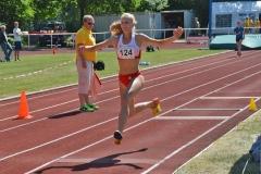Im Dreisprung WJ U20 gewann Marit Köpp (Bremer LT) mit 11,29m.