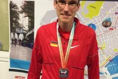 Marcel Frank mit der Bronzemedaille