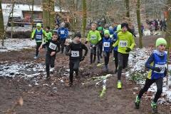 Szene aus dem Lauf der männlichen Kinder über 1300m. Mit dabei unter anderen Tjelle Haber (Nr. 110) und Matti Kaiser (Nr. 563).