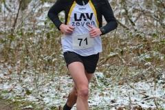 Marcel Frank, hier eine Aufnahme vom Crosslauf in der Zevener Ahe vor einigen Wochen, kam in Scheeßel über die 3010m auf den ersten und über 9330m auf den zweiten Platz in seiner Altersklasse.