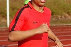 Safin Arshad belegte in einem ganz starken Feld beim 800m-Lauf den vierten Platz.