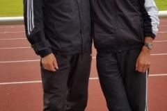 Die LAV Sprinter Czeslaw Pradzynski (li.) und Helmut Meier.