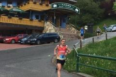 Marcel Frank auf einer der wenigen Flach- /Bergabpassagen der diesjährigen Berglauf-EM